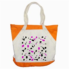 Magenta, Black And White Pattern Accent Tote Bag by Valentinaart