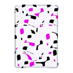Magenta, Black And White Pattern Apple Ipad Mini Hardshell Case (compatible With Smart Cover) by Valentinaart