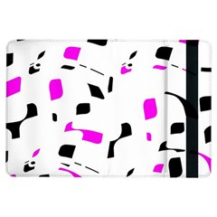 Magenta, black and white pattern iPad Air Flip by Valentinaart