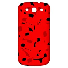 Red And Black Pattern Samsung Galaxy S3 S Iii Classic Hardshell Back Case by Valentinaart