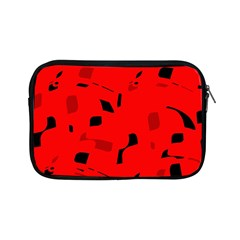 Red And Black Pattern Apple Ipad Mini Zipper Cases by Valentinaart