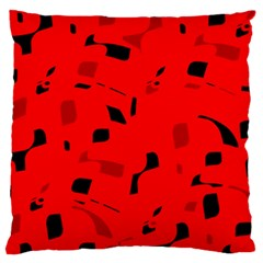 Red And Black Pattern Large Flano Cushion Case (one Side) by Valentinaart