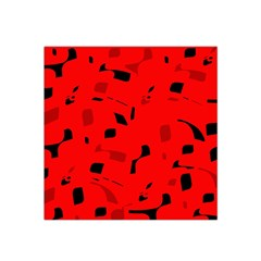 Red And Black Pattern Satin Bandana Scarf by Valentinaart