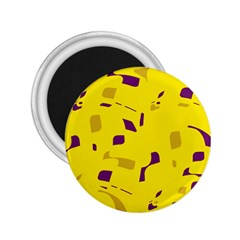 Yellow And Purple Pattern 2 25  Magnets by Valentinaart