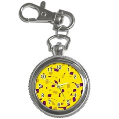 Yellow And Purple Pattern Key Chain Watches by Valentinaart
