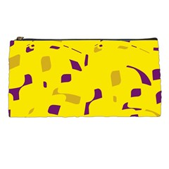 Yellow And Purple Pattern Pencil Cases by Valentinaart