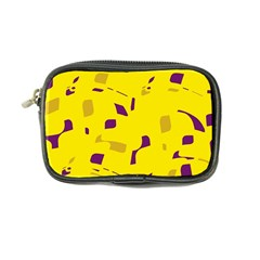 Yellow And Purple Pattern Coin Purse by Valentinaart