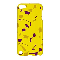 Yellow And Purple Pattern Apple Ipod Touch 5 Hardshell Case by Valentinaart