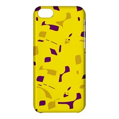 Yellow And Purple Pattern Apple Iphone 5c Hardshell Case by Valentinaart