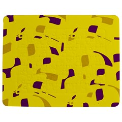 Yellow And Purple Pattern Jigsaw Puzzle Photo Stand (rectangular) by Valentinaart