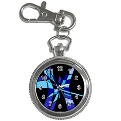 Blue Abstart Design Key Chain Watches by Valentinaart