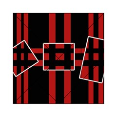 Red And Black Geometric Pattern Acrylic Tangram Puzzle (6  X 6 ) by Valentinaart
