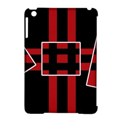 Red And Black Geometric Pattern Apple Ipad Mini Hardshell Case (compatible With Smart Cover) by Valentinaart