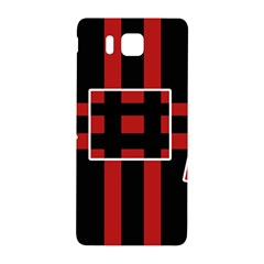Red And Black Geometric Pattern Samsung Galaxy Alpha Hardshell Back Case by Valentinaart