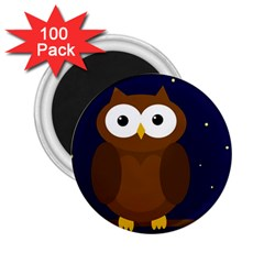 Cute Owl 2 25  Magnets (100 Pack)  by Valentinaart