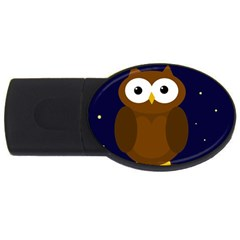 Cute Owl Usb Flash Drive Oval (2 Gb)  by Valentinaart