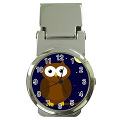 Cute Owl Money Clip Watches by Valentinaart