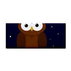 Cute Owl Hand Towel by Valentinaart