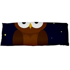 Cute owl Body Pillow Case (Dakimakura) by Valentinaart