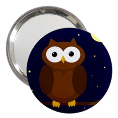 Cute owl 3  Handbag Mirrors by Valentinaart