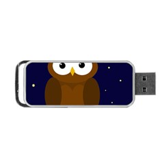 Cute Owl Portable Usb Flash (two Sides) by Valentinaart