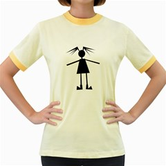 Teenage Girl Women s Fitted Ringer T Shirts by Valentinaart