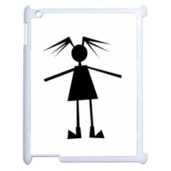 Teenage Girl Apple Ipad 2 Case (white) by Valentinaart