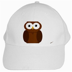 Cute Transparent Brown Owl White Cap by Valentinaart