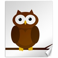 Cute Transparent Brown Owl Canvas 20  X 24   by Valentinaart