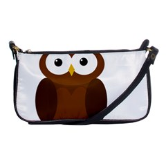 Cute Transparent Brown Owl Shoulder Clutch Bags by Valentinaart