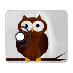 Cute Transparent Brown Owl Samsung Galaxy S  Iii Flip 360 Case by Valentinaart