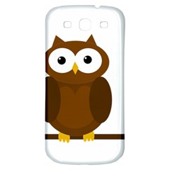 Cute Transparent Brown Owl Samsung Galaxy S3 S Iii Classic Hardshell Back Case by Valentinaart