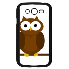 Cute Transparent Brown Owl Samsung Galaxy Grand Duos I9082 Case (black) by Valentinaart
