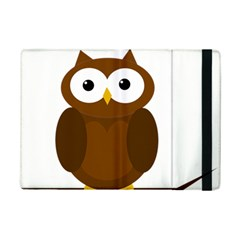 Cute Transparent Brown Owl Ipad Mini 2 Flip Cases by Valentinaart