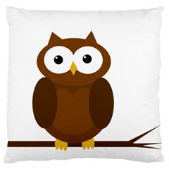 Cute Transparent Brown Owl Standard Flano Cushion Case (two Sides) by Valentinaart