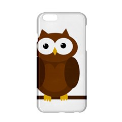 Cute Transparent Brown Owl Apple Iphone 6/6s Hardshell Case