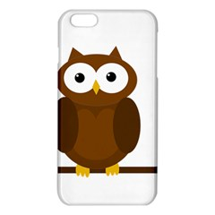 Cute Transparent Brown Owl Iphone 6 Plus/6s Plus Tpu Case by Valentinaart