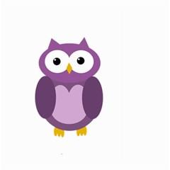 Purple Transparetn Owl Large Garden Flag (two Sides) by Valentinaart