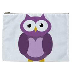 Purple Transparetn Owl Cosmetic Bag (xxl)  by Valentinaart