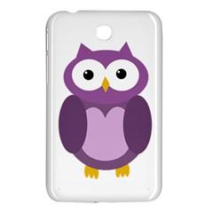 Purple Transparetn Owl Samsung Galaxy Tab 3 (7 ) P3200 Hardshell Case  by Valentinaart