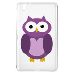 Purple Transparetn Owl Samsung Galaxy Tab Pro 8 4 Hardshell Case by Valentinaart