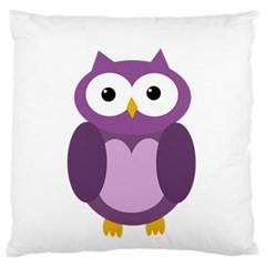 Purple Transparetn Owl Standard Flano Cushion Case (one Side) by Valentinaart
