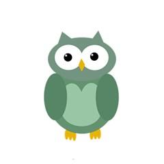 Green Cute Transparent Owl 5 5  X 8 5  Notebooks by Valentinaart