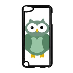 Green Cute Transparent Owl Apple Ipod Touch 5 Case (black) by Valentinaart