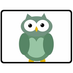 Green Cute Transparent Owl Double Sided Fleece Blanket (large)  by Valentinaart