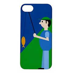 Fisherman Apple Iphone 5s/ Se Hardshell Case by Valentinaart