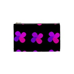 Purple Flowers Cosmetic Bag (small)  by Valentinaart