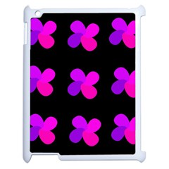 Purple Flowers Apple Ipad 2 Case (white) by Valentinaart