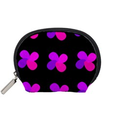 Purple Flowers Accessory Pouches (small)  by Valentinaart
