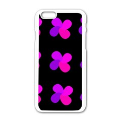Purple Flowers Apple Iphone 6/6s White Enamel Case by Valentinaart